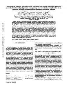 Manipulative resonant nonlinear optics: nonlinear interference effects ...