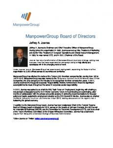 ManpowerGroup Board of Directors