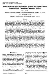 Mantle Petrology and Geochemistry Beneath the