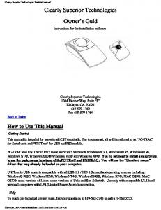 Manual - Clearly Superior Technologies, Inc.