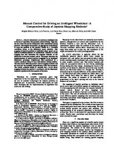 Manual Control for Driving an Intelligent Wheelchair - Semantic Scholar