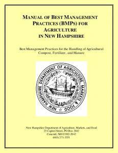 Manual of Best Management Practices (BMPs) for Agriculture in ...