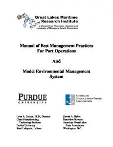 Manual of Best Management Practices For Port Operations And ...
