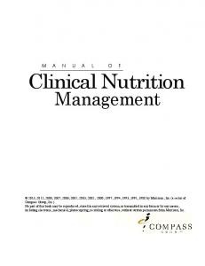Manual of Clinical Nutrition
