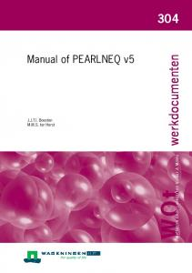 Manual of PEARLNEQ v5 - Wageningen UR E-depot - WUR