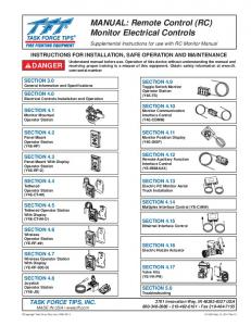 MANUAL: Remote Control (RC) Monitor Electrical Controls