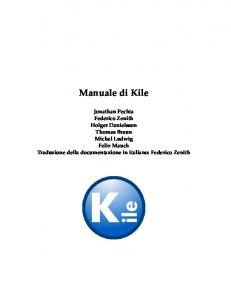 Manuale di Kile - KDE Documentation