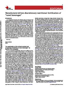 Manufacturer-driven discretionary nutritional ...