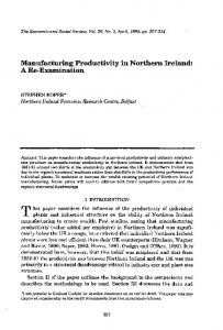 Manufacturing Productivity in Northern Ireland: A Re ... - TARA
