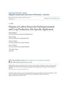 Manure as Carbon Source for Soil Improvement and Crop Production ...
