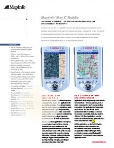 MapInfo® MapX® Mobile - AS Regio