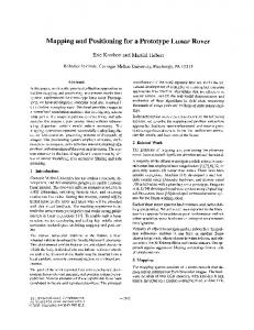 Mapping and Positioning for a Prototype Lunar Rover - The Robotics