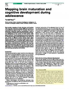 Mapping brain maturation and cognitive development during ...