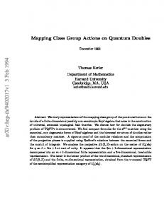 Mapping Class Group Actions on Quantum Doubles