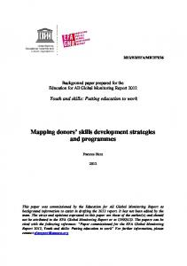 Mapping donors' skills development strategies and ...