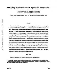 Mapping Equivalence for Symbolic Sequences: Theory and Applications