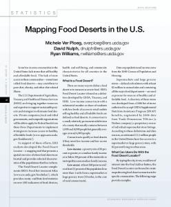 Mapping Food Deserts in the US - Amber Waves ... - AgEcon Search