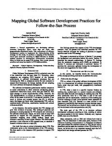 Mapping Global Software Development Practices for ... - IEEE Xplore
