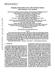 Mapping Observations of 6.7 GHz Methanol Masers with Japanese ...