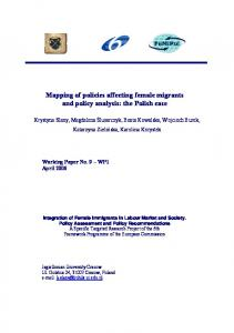 Mapping of policies affecting female migrants and policy ... - FeMiPol