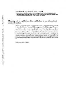 Mapping out of equilibrium into equilibrium in one-dimensional ...