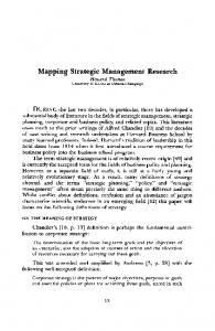 Mapping Strategic Management Research - The Business History ...