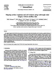 Mapping surface roughness and soil moisture using ... - PubAg - USDA
