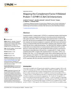 Mapping the Complement Factor H-Related