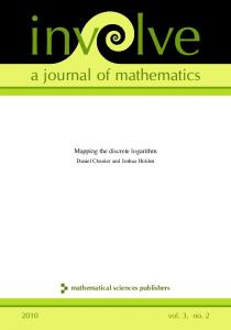 Mapping the discrete logarithm - Mathematical Sciences Publishers