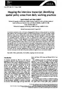 Mapping the interview transcript: Identifying spatial policy areas from