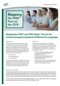 Mapping the TOEIC® and TOEIC Bridge™ Tests on - ETS