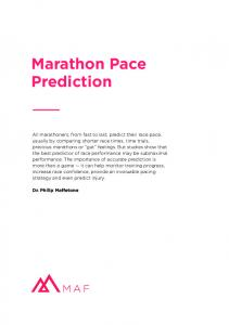 Marathon Pace | Runner A's MAF Test Progression