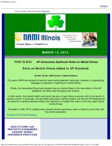March 13, 2013 - NAMI