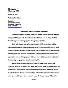 March 22, 2007 For Immediate Release Contact: Eric Vaughn ...