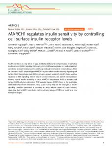 MARCH1 regulates insulin sensitivity by controlling cell ... - Nature