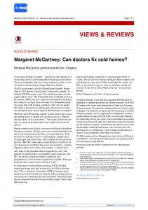 Margaret McCartney: Can doctors fix cold homes? - The BMJ