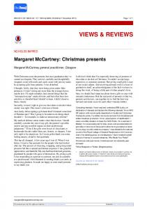 Margaret McCartney: Christmas presents - The BMJ
