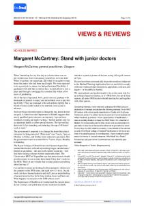 Margaret McCartney: Stand with junior doctors - The BMJ