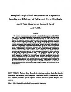 Marginal Longitudinal Nonparametric Regression - TAMU Stat