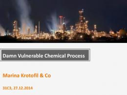Marina Krotofil & Co Damn Vulnerable Chemical ... - CCC Event Blog