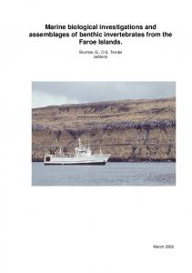 Marine biological investigations and assemblages of benthic ...