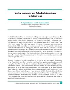 Marine mammals and fisheries interactions in Indian seas