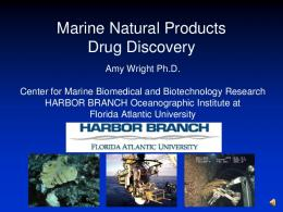 Marine Natural Products Drug Discovery (DM)
