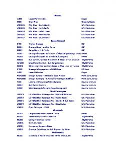 Marine Publications by Category - Marine Ship & Supplies
