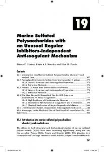 Marine Sulfated Polysaccharides with an Unusual ...