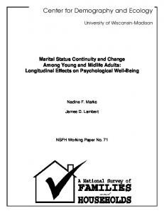 Marital Status Continuity and Change Among Young and Midlife ...