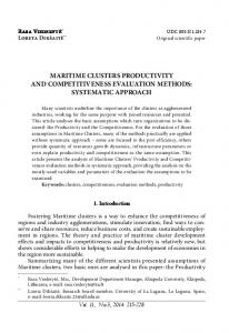 maritime clusters productivity and competitiveness