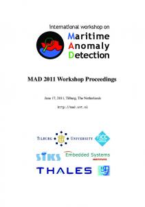 Maritime Container Traffic Anomaly Detection - MAD 2011 - Tilburg ...