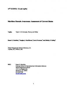 Maritime Domain Awareness: Assessment of Current Status