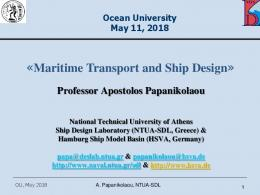 Maritime Transport and Ship Design